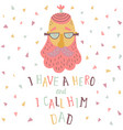 dad poster vector image