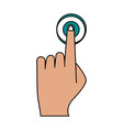 finger tapping icon image vector image