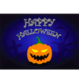 Halloween background with pumpkin head vector image