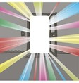 Open the door wide open light output and input vector image