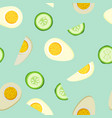 tiling seamless background with bright food vector image