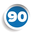 Number ninety icon vector image