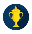 trophy award win sport icon vector image