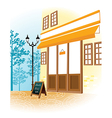 Cafe Shopfront Scene vector image