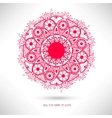 Ornamental round lace patternValentines Day card vector image vector image