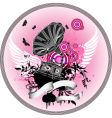 gramophone with wings vector image vector image