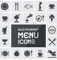Flat Design Restaurant Menu Icons Set vector image