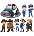Police and detectives vector image vector image