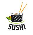 logo Japanese food sushi vector image