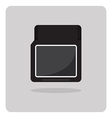 flat icon compact memory card vector image vector image