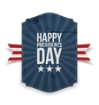 Presidents Day big realistic Banner Template vector image