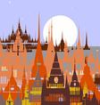Cartoon background of Arab town vector image