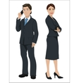 European business people vector image