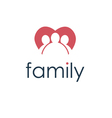 happy family icon in heart vector image