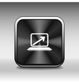 Laptop with arrow pointing up from the blank scree vector image