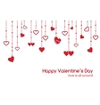 Valentines Day greeting card with heart garlands vector image