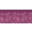 Purple field flowers horizontal seamless pattern vector image vector image