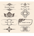 design elements and page decoration vector image vector image