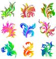 floral decor ornament vector image vector image