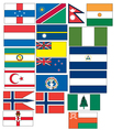 set of 19 flags countries started with N and O vector image