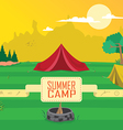 summer camp clipart vector image