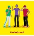 Football Coach Concept Flat Design vector image
