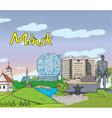 minsk doodles vector image vector image