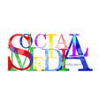 Social Media letter for you design vector image vector image