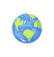cartoon flat globe isolated vector image