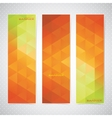 Colorful Vertical Set Of Banners Mosaic vector image