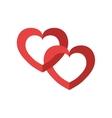 Double Heart icon Love design graphic vector image