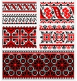 ethnic urkaine embroidery set vector image