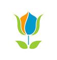 Flower Logo 380x400 vector image