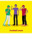 Football Coach Concept Flat Design vector image