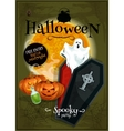 Halloween party club banner with Invitation text vector image