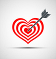 heart icon as a target with an arrow vector image