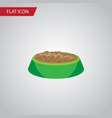 isolated hare nutrition flat icon rabbit meal vector image