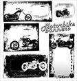 Motor bike grunge banners vector image