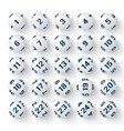 Set of realistic white bingo balls vector image