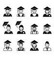 University students graduation avatar vector image