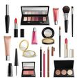 Makeup Cosmetics Accessories RealisticItems vector image