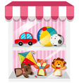 Set of puppets and toys vector image