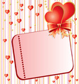Valentins Day card vector image