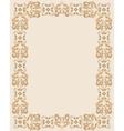 Gothic rectangular frame vector image vector image