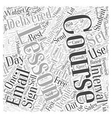 email courses and autoresponders Word Cloud vector image