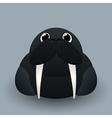 Cute baby walrus vector image
