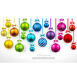 Christmas balls with ribbon and bows vector image