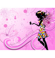flower fairy with butterflies vector image vector image