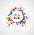 Happy Holi card template vector image