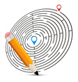 Maze with Labels and Pencil vector image vector image